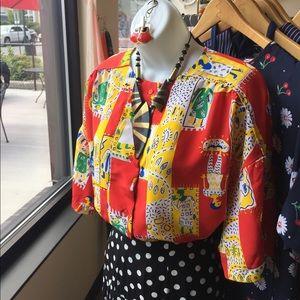 80s vintage Diane Von Furstenberg DVF blouse